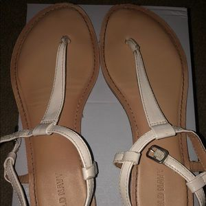 White old navy sandals